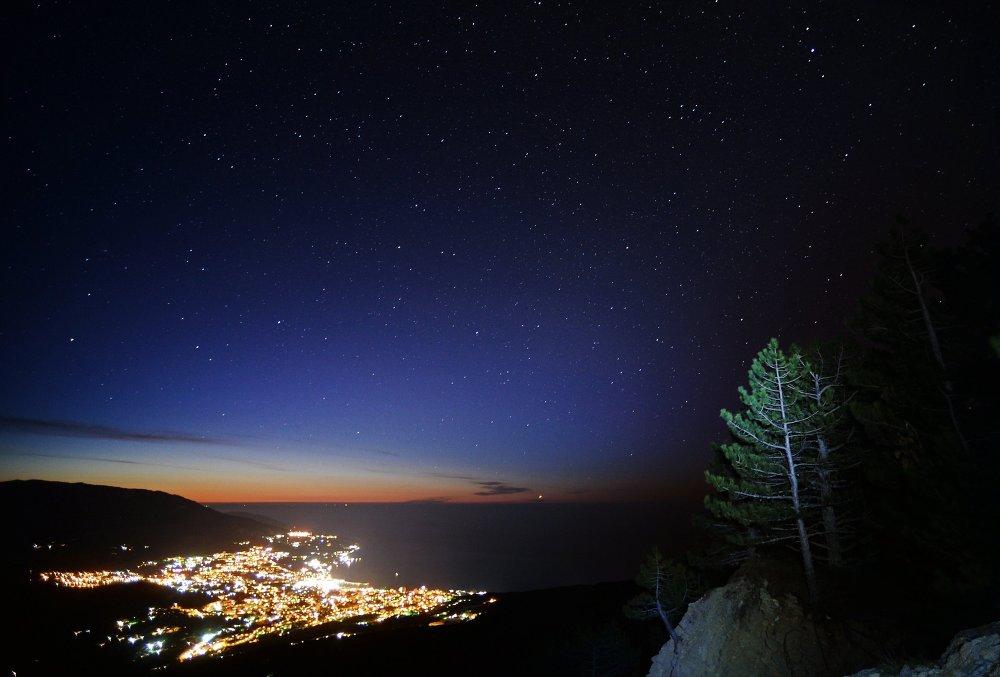 Veduta di Yalta dal monte Ai-Petri