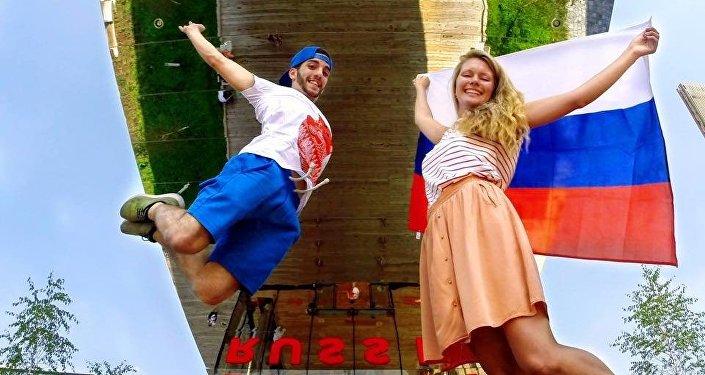 Visitatori al padiglione russo di EXPO Milano