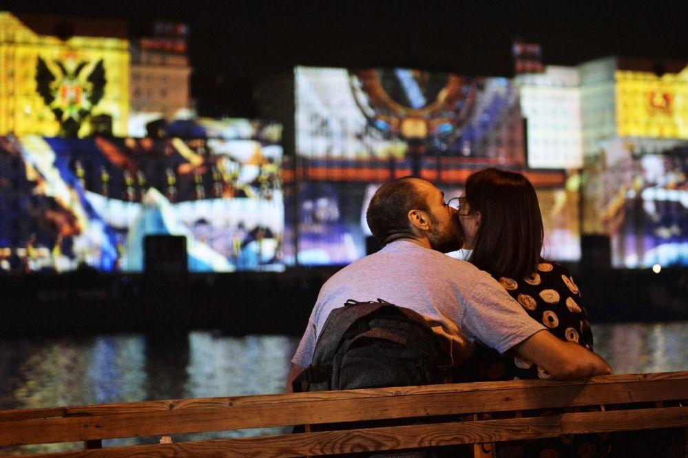 L'apertura del Festival internazionale di Mosca Cerchio di luce.