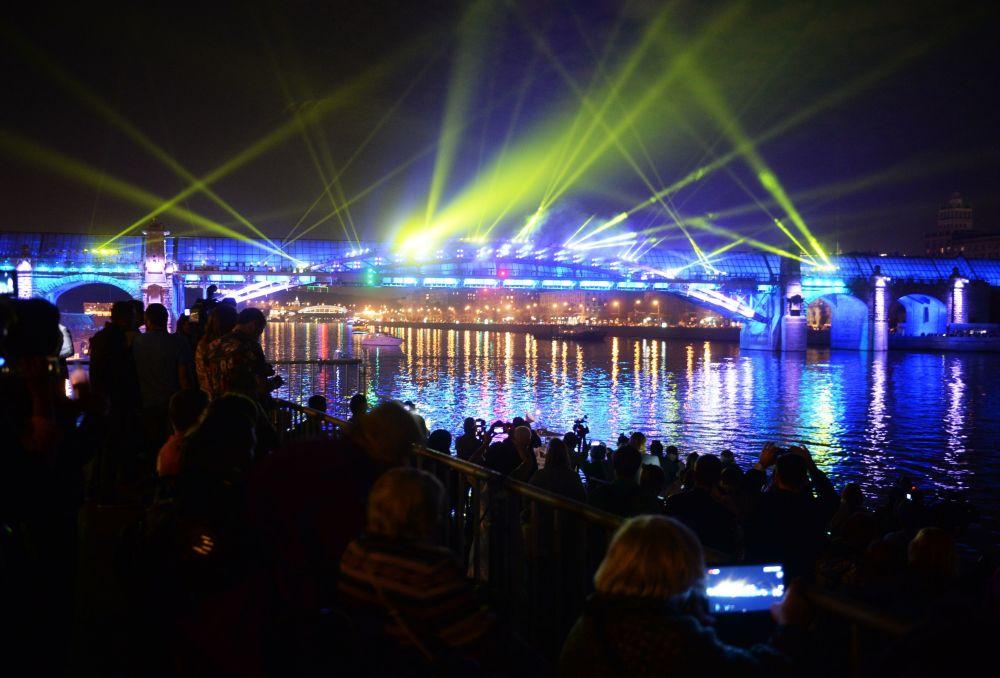 La cerimonia dell'apertura del Festival internazionale di Mosca Circolo di luce.