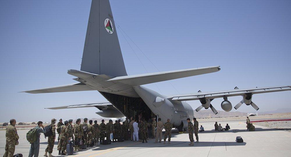 Un C-130 Hercules in Afghanistan.