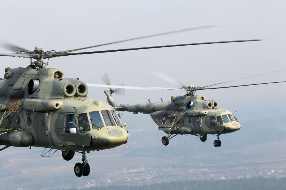 Gli elicotteri Mi-17.