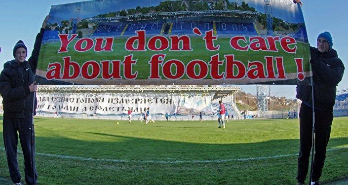 Crimea, Manifestazione a sostegno del calcio professionista