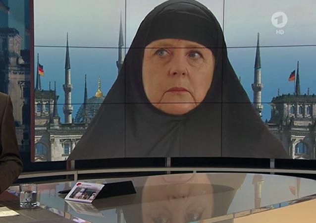 Screenshot dal programma Bericht aus Berlin del 04.10.2015