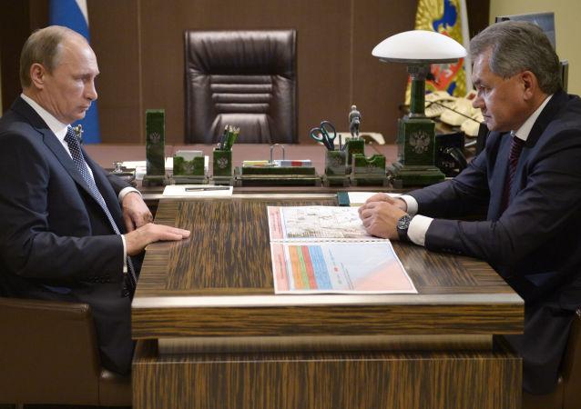 Incontro tra Vladimir Putin e Sergey Shoygu