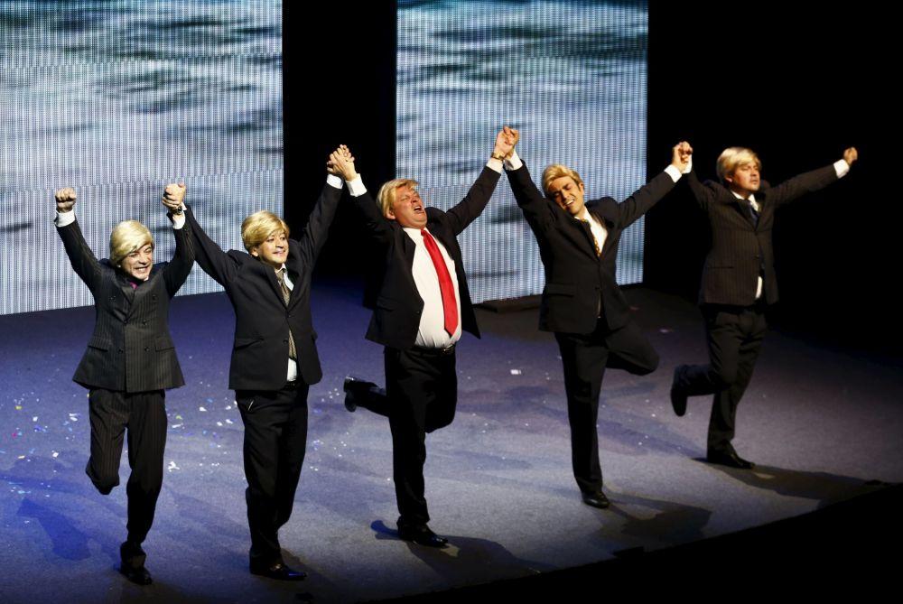 Uno spettacolo comico dedicato al miliardario Donald Trump in Messico.