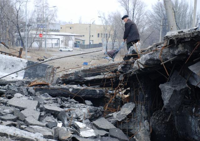 Donetsk distruzione