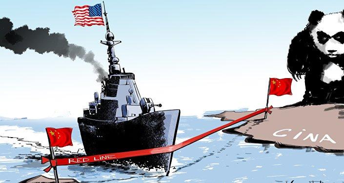 Cacciatorpediniere USA nel Mar Cinese Meridionale