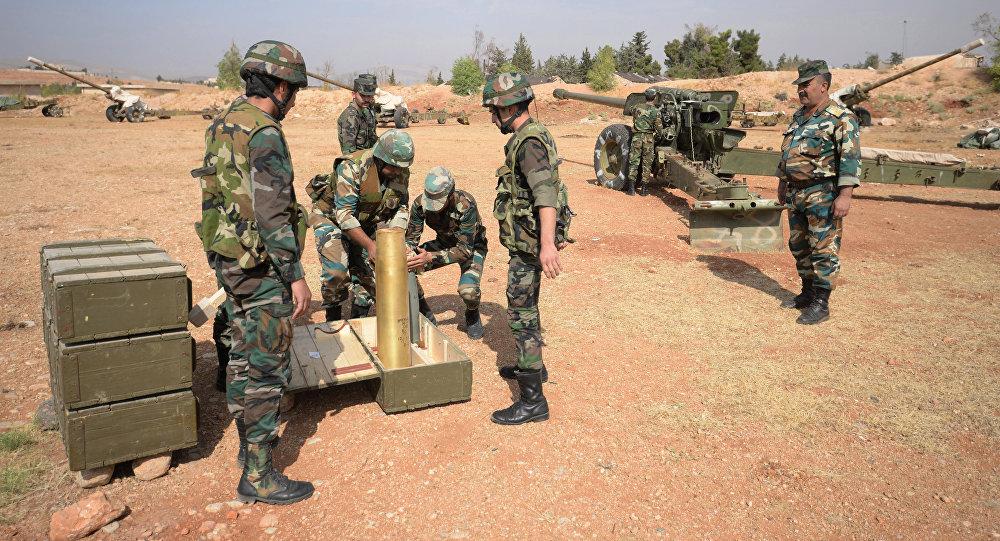 Artiglieria esercito siriano