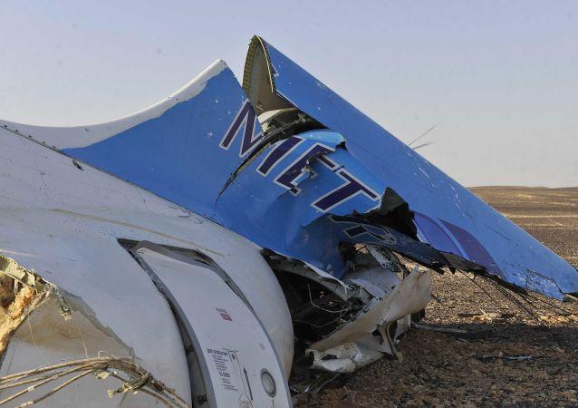 Обломки разбившегося самолета в Египте