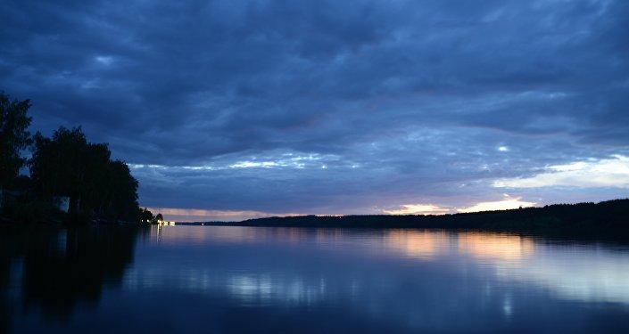 Tramonto sul Volga