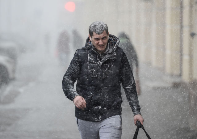 Nevicata di primavera a Mosca