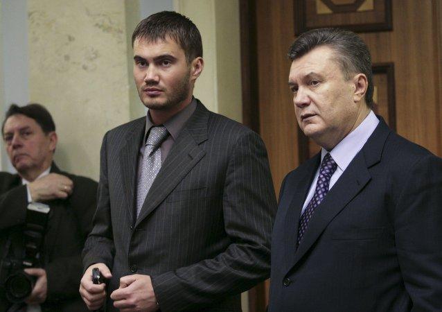 Viktor Yanukovych e suo figlio