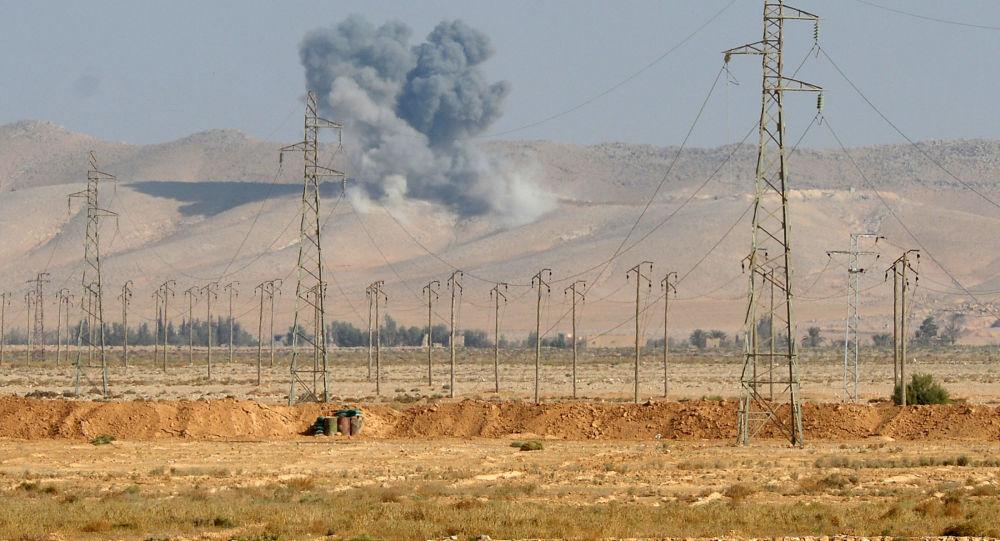Bombardamenti nei pressi di Palmira