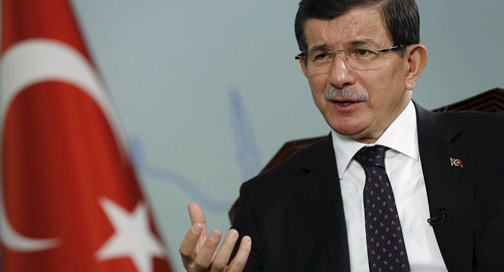 Il primo ministro della Turchia Ahmet Davutoglu