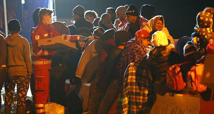 Migranti al confine austriaco-tedesco
