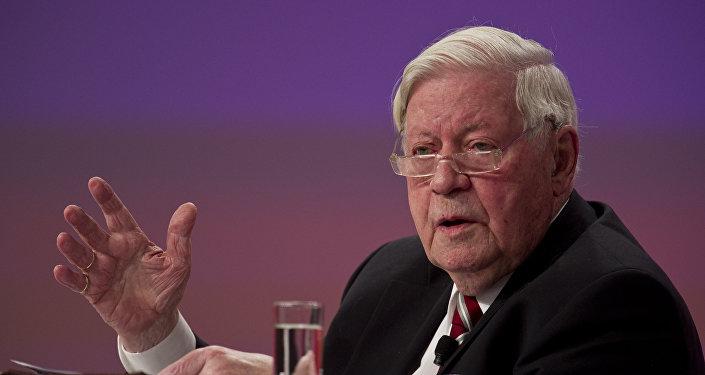 Helmut schmidt, l'ex cancelliere tedesco