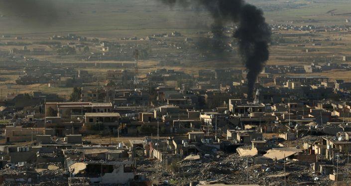 La città iraqena di Sinjar, riconquistata dai curdi ai danni dell'ISIS