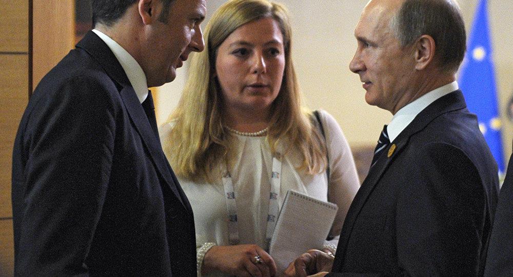 Renzi e Putin al summit del G20 in Turchia