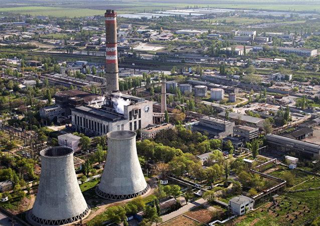 Centrale termoelettrica a Simferopoli