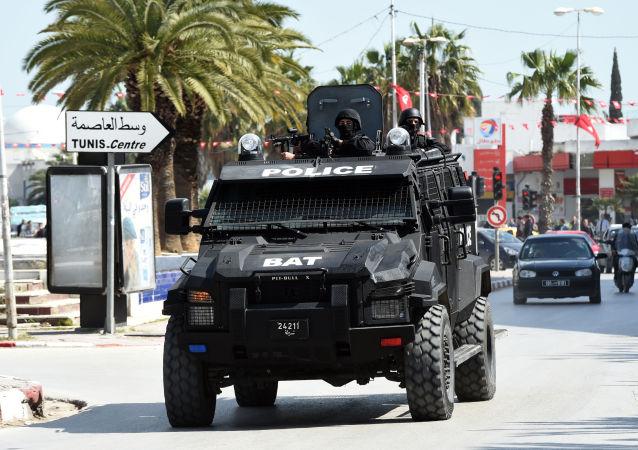 Le forze di sicurezza tunisine  presso il Museo del Bardo