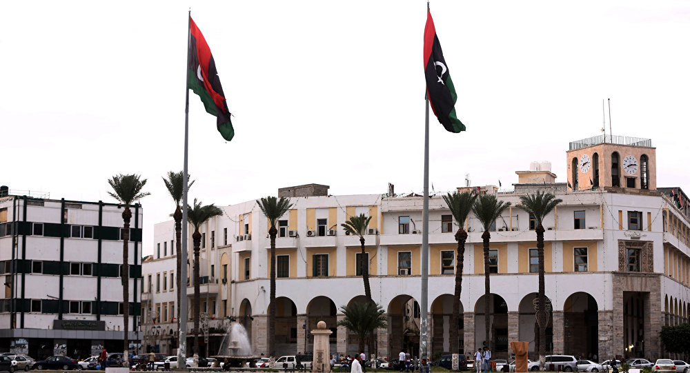 A picture shows Tripoli's Martyrs square, which used to be called the Green Square during the dictatorship of slain Libyan dictator Moamer Kadhafi, in the Libyan capital Tripoli on October 20, 2015.