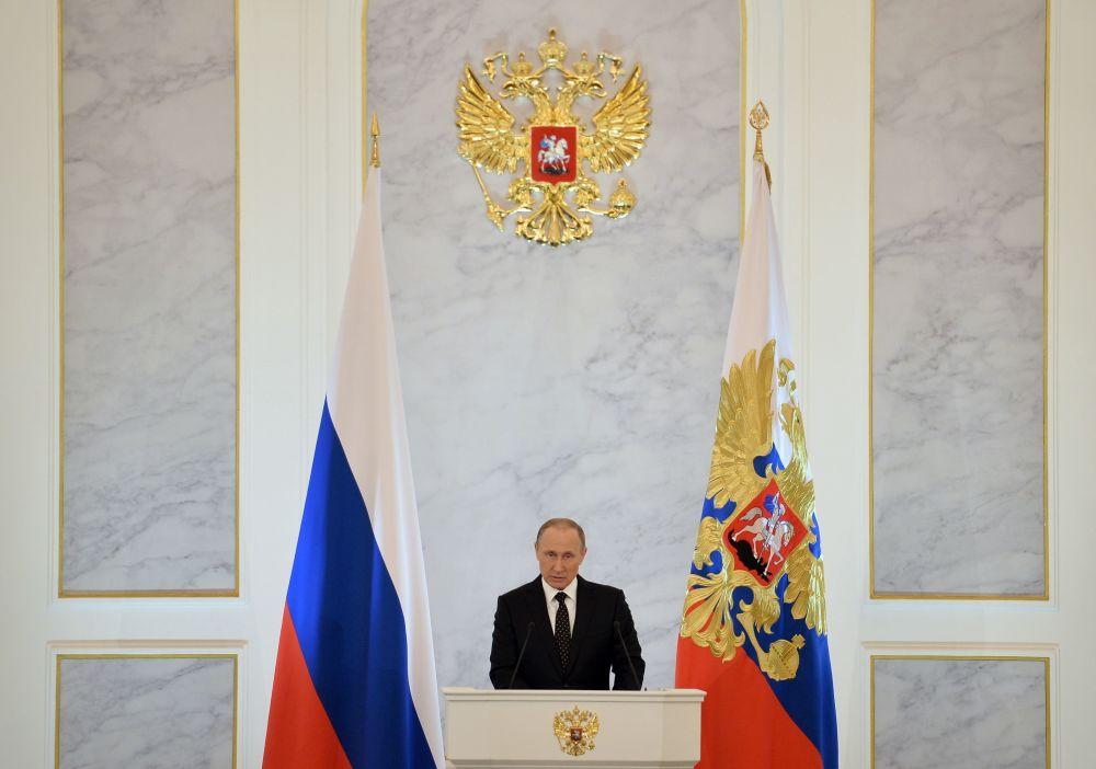 Il messaggio annuale di Vladimir Putin all'Assemblea Federale.