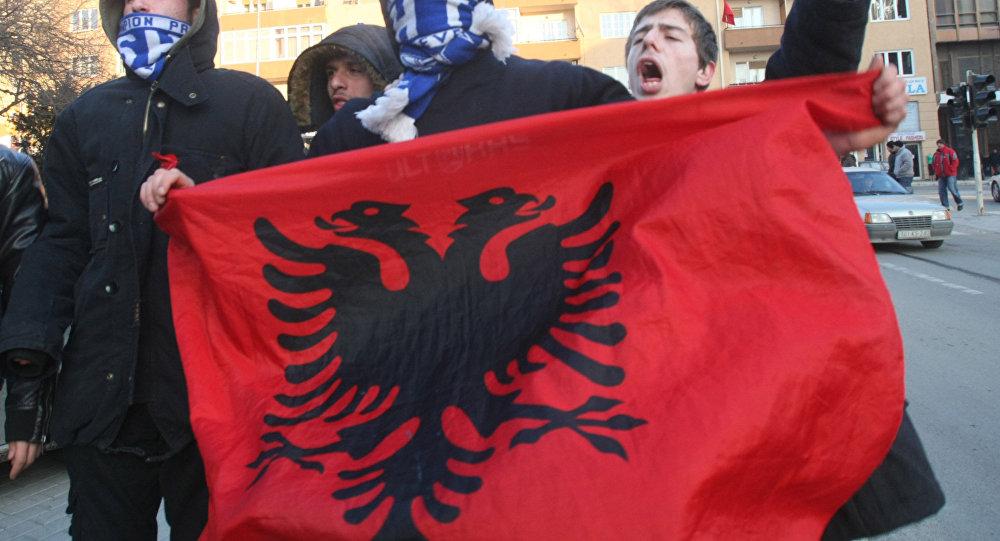 La bandiera dell'Albania