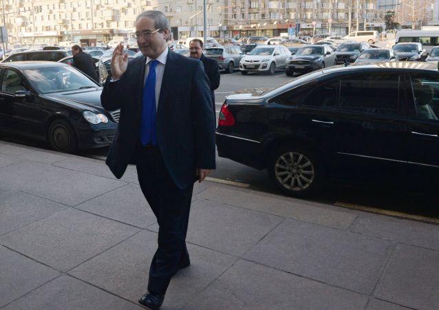 Vice ministro degli Esteri siriano Faisal Miqdad a Mosca