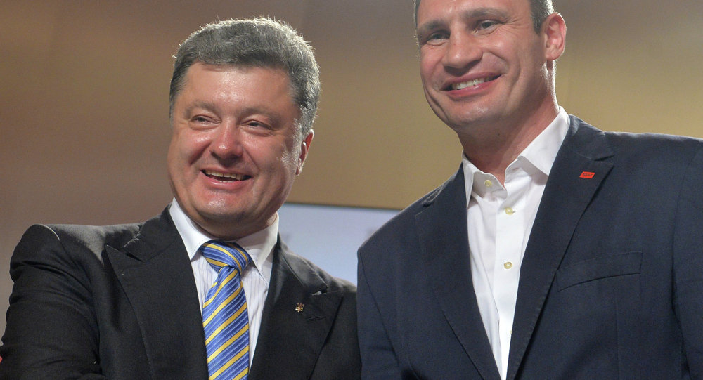 Petr Poroshenko e sindaco di Kiev Vitali Klitschko