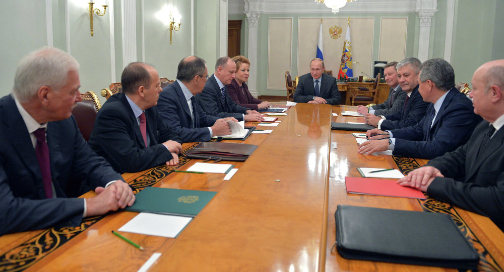 Incontro di Vladimir Putin con i rappresentanti del Consiglio di Sicurezza