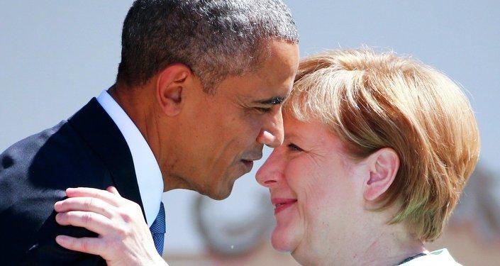 Barack Obama e Angela Merkel al G7 di giugno in Germania (foto d'archivio)