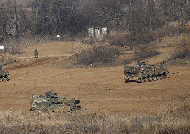 Artiglieria dell'esercito della Corea del Sud
