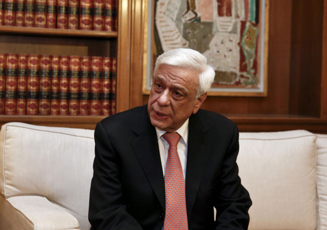 Il presidente della Grecia Prokopis Pavlopoulos