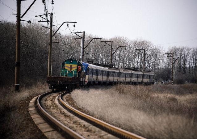 Il primo treno per Lugansk.