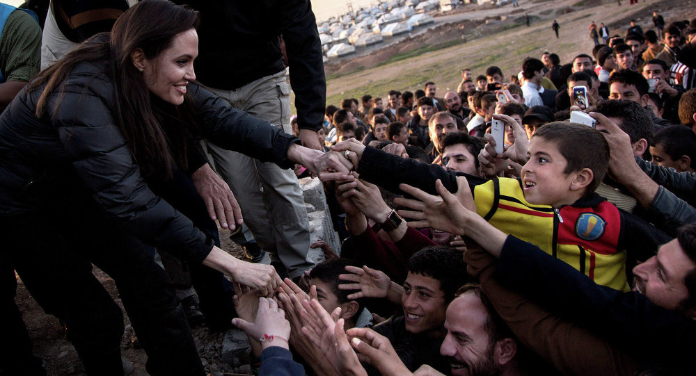 UNHCR  inviata speciale Angelina Jolie in Iraq