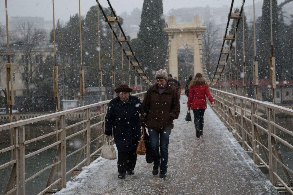 Sochi coperta di neve.
