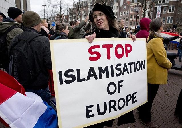 Manifestazione di Pegida in Olanda