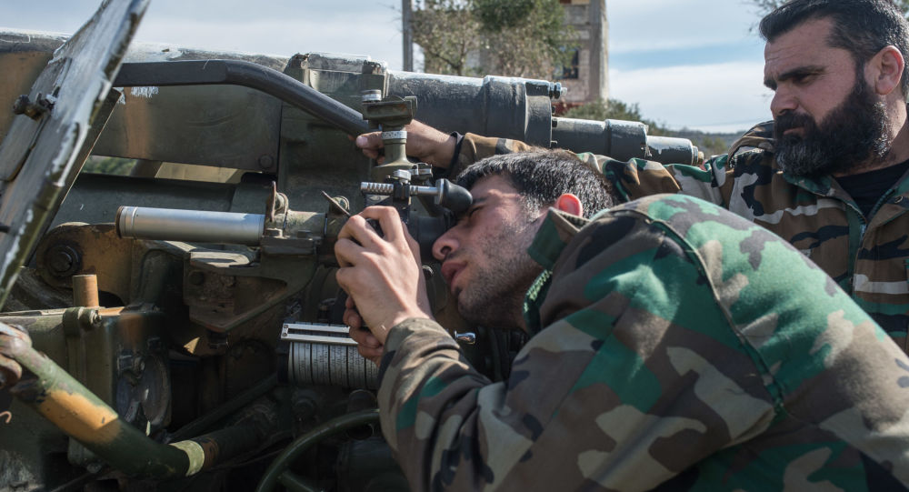 Esercito siriano nella provincia di Idlib, Siria