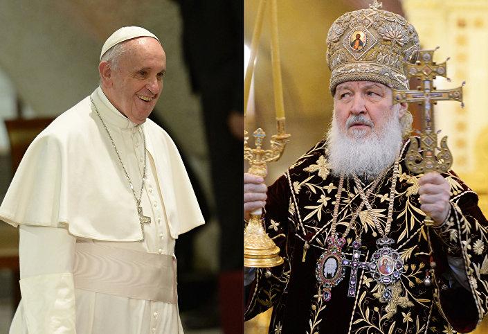 Papa Francesco ed il patriarca di Mosca e di tutte le Russie Kirill