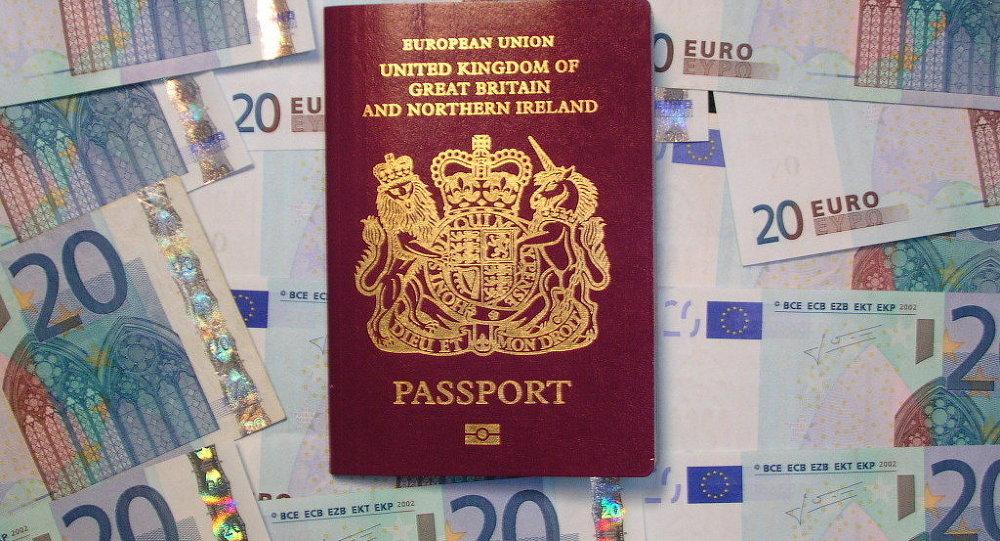 Passaporto britannico biometrico ed euro
