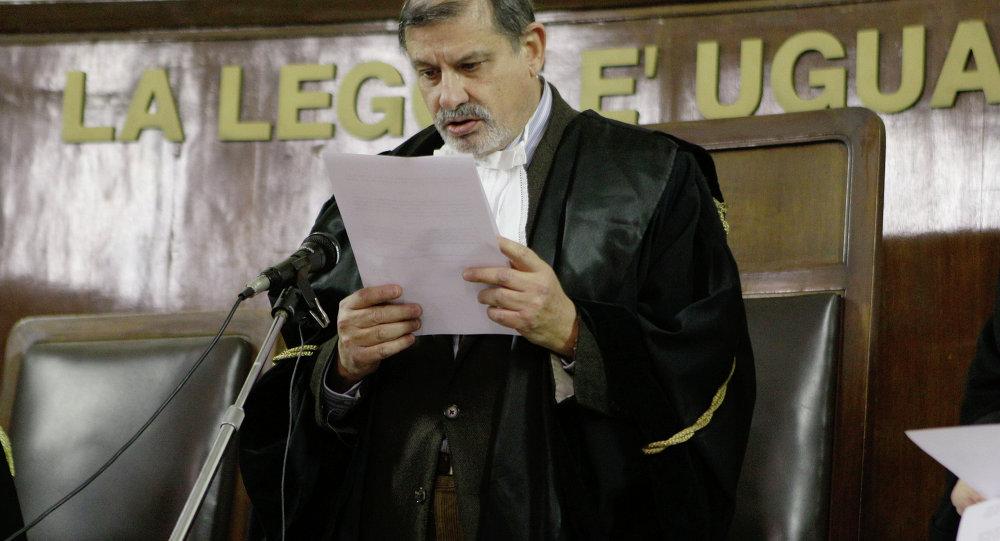 Il giudice Sergio Silocchi legge la sentenza a Osama Moustafa Hassan Nasr (Abu Omar), Milano, Italia