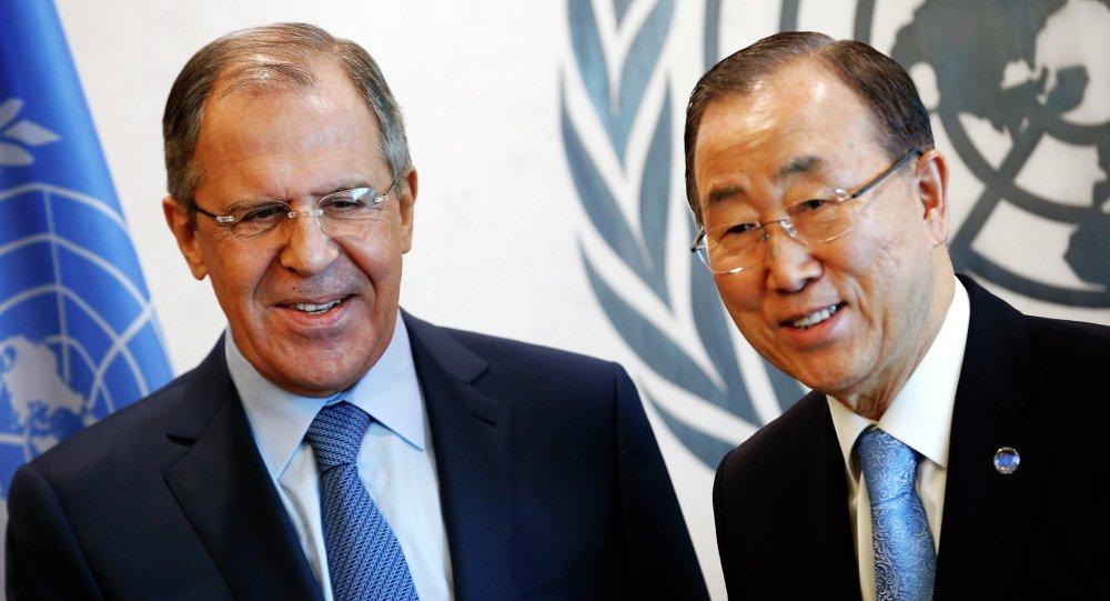 Sergey Lavrov e Ban Ki-moon