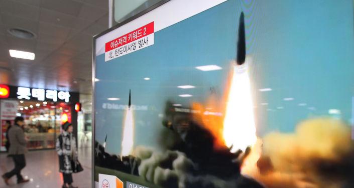 Reportage da tv sudcoreana su lancio missili della Corea del Nord