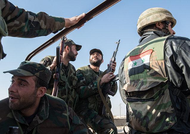 Soldati dell'esercito siriano