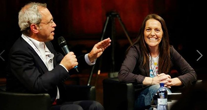 Arianna Ciccone e Enrico Mentana