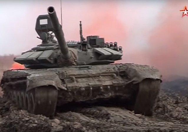 Biathlon dei carri armati in Cecenia