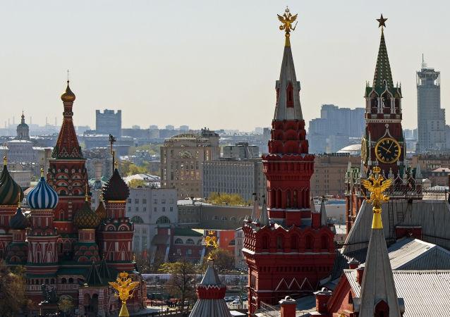 Vista sul Cremlino di Mosca