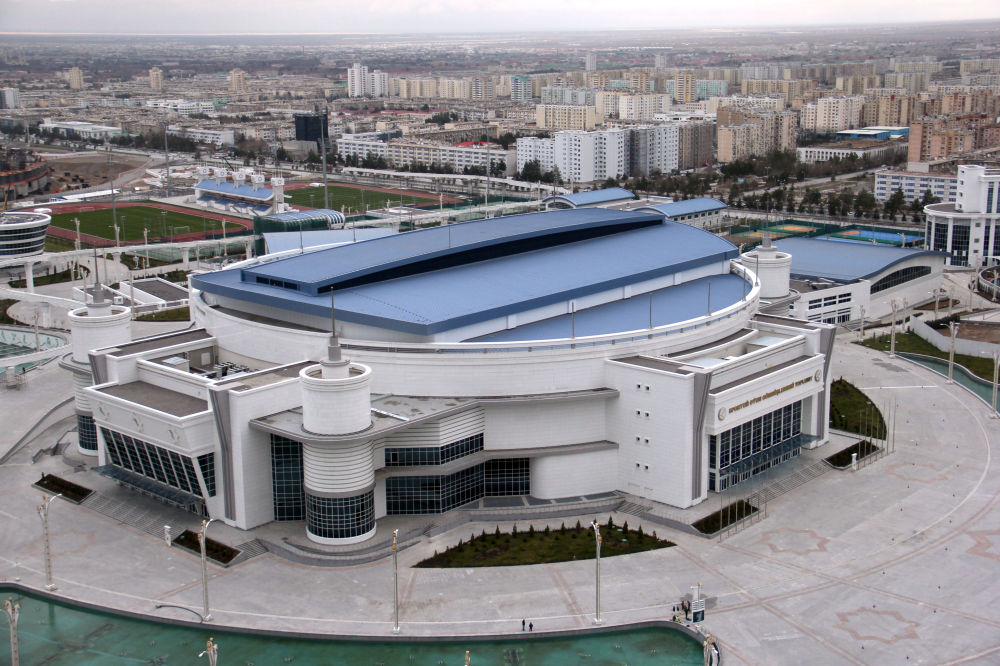 L'arena multisport del parco olimpico di Ashgabat