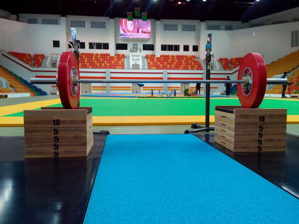 Ashgabat, palestra di allenamento al complesso olimpico che ospiterà i Giochi Asiatici Indoor e di Arti Marziali del 2017